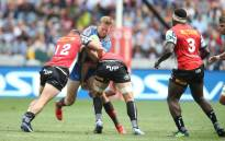 Stormers players defend against the Bulls during their Super Rugby match. Picture: @THESTORMERS/Twitter