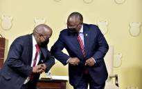 FILE: New Minister in the Presidency Mondli Gungubele and President Cyril Ramaphosa at the swearing-in ceremony at the Union Buildings in Pretoria on 6 August 2021. Picture: GCIS