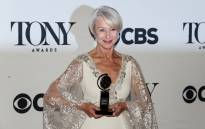 Helen Mirren poses backstage with her award for best performance by an actress in a leading role in a play for 'The Audience' during the American Theatre Wings 69th Annual Tony Awards at the Radio City Music Hall in New York City on June 7, 2015. Picture: AFP.