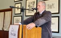 Trade and Industry Minister Rob Davies speaking at the Cape Town Press Club on 26 March 2019. Picture: @capepressclub/Twitter