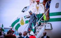Nigeria's President Muhammadu Buhari returned to the country on Saturday evening 18 August 2018 after two weeks of leave in Britain. Picture: Twitter/@NGRPresident.