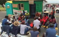 A group of University of Cape Town students erected a shack on campus during a protest over accommodation on 15 February 2016. Picture: Natalie Malgas/EWN.
