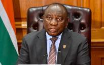 President Cyril Ramaphosa addresses the nation on 11 January 2021. Picture: GCIS.