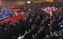 A screengrab of the special official funeral for businesswoman Thandi Ndlovu is being held at the House of Treasure Ministries, south of Johannesburg on 30 August 2019.