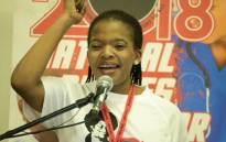 Cosatu President Zingiswa Losi at the two-day national nurses' seminar. Picture: @_cosatu/Twitter.