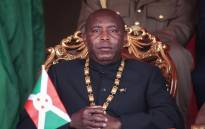 Evariste Ndayishimiye, Burundi's elected president from the ruling party, the National Council for the Defense of Democracy - Forces for the Defense of Democracy (CNDD-FDD), attends the swearing-in ceremony at Ingoma stadium in Gitega, Burundi, on 18 June 2020. Picture: AFP.