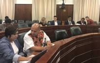 Parliament's Environmental Affairs committee holding its inquiry into the alleged unlawful removal of beachgoers from Fourth Beach in December. Picture: Lindsay Dentlinger/EWN