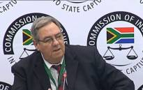 Retired Colonel Johannes van Loggerenberg at the state capture inquiry. Picture: YouTube screengrab.
