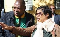 Digital Vibes boss Tahera Mather (R) and former Health Minister Zweli Mkhize. Picture: Tahera Mather/Facebook.