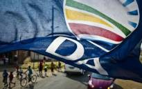 A Democratic Alliance flag. Picture: @Our_DA/Twitter