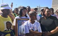 Family and community members were addressed by State Security Minister Dipuo Letsatsi-Duba following the death of Liam Lesch. Picture: Monique Mortlock/EWN