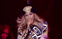 A screengrab taken from a live performance of 'Flawless'. Picture: Youtube.
