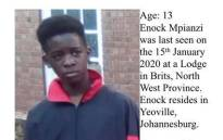 Missing Parktown Boys High pupil Enock Mpianzi. Picture: Facebook.