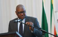 FILE: Gauteng premier David Makhura delivering the keynote address at the provinces Ethics and Anti-Corruption Indaba. Picture: @GautengProvince/Twitter