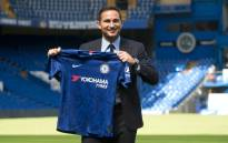 Chelsea's newly appointed English head coach Frank Lampard poses for the press at Stamford Bridge in London on 4 July 2019. Picture: AFP