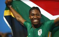 Caster Semenya celebrates winning the Women's 800m Final at the Rio 2016 Olympic Games. Picture: AFP