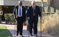 Rivonia trialists Andrew Mlangeni (L) and Denis Goldberg (R). Picture: EWN