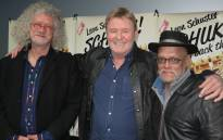 Gerrit Schoonhoven, Leon Schuster and Ivan D Lucas at preview of 'Schucks! Pay Back the Money!' Picture: Louise McAuliffe/EWN