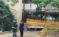 Hoërkool Driehoek in Vanderbijlpark on 1 February 2019 where at least 3 children died and 20 were seriously injured after a walkway in the school collapsed. Picture: Christa Eybers/EWN