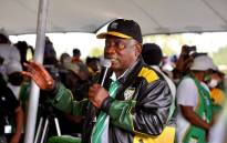 ANC president Cyril Ramaphosa on the campaign trail in Tlokwe in North West on 8 October 2021. Picture: @MYANC/Twitter.