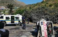 Police on scene after a protest over housing took place in Hout Bay on 17 September 2019. Property was also damaged during the demonstration. Picture: Supplied.