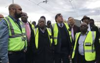 Transport Minister Blade Nzimande visited a train depot in Paarden Eiland, Cape Town on Friday morning to see first-hand the extent of the damage done to the Passenger Rail Agency of SA infrastructure. Picture: Kaylynn Palm/EWN