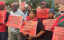 Cosatu members strike against the country's high unemployment and the unbundling of Eskom on 13 February 2019. Picture: @_cosatu/Twitter