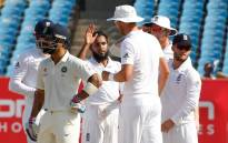 England cricket team celebrate the taking of wicket against India on the fourth morning of the opening test. Picture: Facebook.