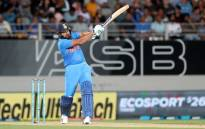 India's Rohit Sharma plays a shot during the second Twenty20 international cricket match between New Zealand and India in Auckland on 8 February 2019. Picture: AFP