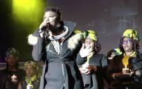 Amanda Black performs at Bassline, Newtown, Johannesburg in tribute to the late Winnie Madikizela-Mandela. Picture: Louise McAuliffe/EWN