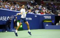 Novak Djokovic in action against Nishikori at the US Open. Picture: @usopen/Twitter.