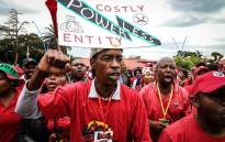 Cosatu begins its march against job losses at Mary Fitzgerald Square in Johannesburg with protest songs and dancing on 13 February 2019. Picture: Thomas Holder/EWN