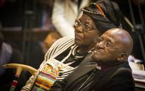 FILE: Desmond and Leah Tutu mark their 60th wedding anniversary at St George's Cathedral in Cape Town on 2 July 2015. Picture: Aletta Gardner/EWN