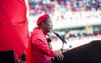 Economic Freedom Fighters (EFF) leader Julius Malema addressing the supporters during the party's manifesto launch at Orlando Stadium on 30 April 2016. Picture: EFF Facebook.