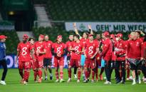 Bayern Munich players celebrate winning the Bundesliga title on 16 June 2020. Picture: @FCBayernEN/Twitter