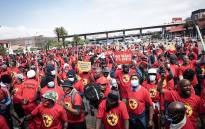 FILE: Thousands of Numsa members marched from Mary Fitzgerald Square in Newtown to the offices of the Metals and Engineering Industries Bargaining Council in Marshalltown on 5 October 2021. Picture: Xanderleigh Dookey Makhaza/Eyewitness News