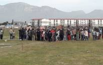 Residents protest in Ottery over housing issues on 22 March 2019. Picture: Supplied.