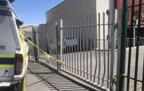 The Hout Bay police station remains closed after a police officer shot his wife and then himself at the station. Picture: Kaylynn Palm/EWN.