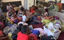 The foreign nationals, among them refugees, had been staging a sit-in at the Methodist Church in the Cape Town CBD and demanding they be helped to leave South Africa. Picture: Kaylynn Palm/EWN.