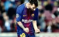 Lionel Messi celebrates a goal. Picture: @FCBarcelona/Twitter