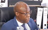 A screengrab of former Eskom CEO Matshela Koko appearing at the state capture inquiry on 29 March 2021. Picture: SABC/YouTube