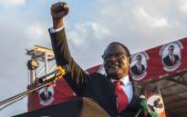 FILE: Malawi's new President Lazarus Chakwera addresses supporters at Mtandire locations in the suburb of the capital Lilongwe where he held his final rally, 20 June 2020. Picture: AFP