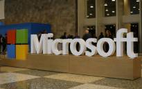 FILE: A Microsoft logo is seen in San Francisco, California. Picture: AFP.