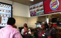A new Burger King branch in Centurion during a media preview on 30 January 2014, with the official opening planned for 1 February. Picture: Sebabatso Mosamo/EWN.