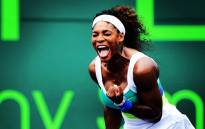 Serena Williams celebrate her win over Maria Sharapova at the Sony Open in 2013. Picture: Facebook.