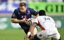 FILE: Stade Francais' South Africa hooker Craig Burden (L) vies with Oyonnox's players during the Top 14 rugby union match between Stade Francais Paris and Oyonnax on 19 November 2017 at the Jean Bouin stadium in Paris. Picture: AFP