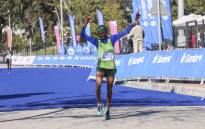 This is how you look after you finish a 42km marathon. Picture: Cindy Archillies/EWN