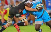The Blue Bulls' Trevor Nyakane in action. Picture: Twitter/@BlueBullsRugby