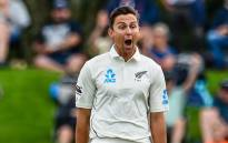 New Zealand fast bowler Trent Boult celebrates the fall of a wicket. Picture: @BLACKCAPS/Twitter
