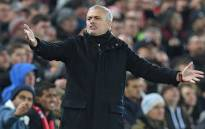 Former Manchester United manager Jose Mourinho gestures on the touchline during the English Premier League football match between Liverpool and Manchester United at Anfield in Liverpool, northwest England on 16 December 2018. Picture: AFP